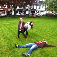 There was frolicking...there was also grass angel-making. :D